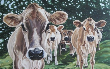 Cosmic Cows, 30 x 48 sold
