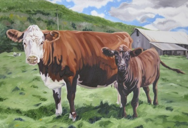 Flamstead Cows, 24 x 36