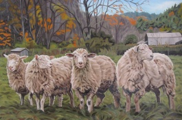 Fall Sheep, 24 x 36
