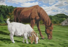 Horse and Goat, 24 x 30