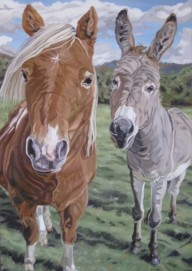 Miniature Horse and Burrow, 24 x 36