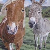 Miniature Horse and Burrow, 24 x 36
