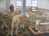 Sean's Sheep, 36 x 48