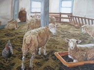 Sean's Sheep, 36 x 48