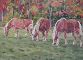 Taylor Farm Draft Horses, 22 x 30