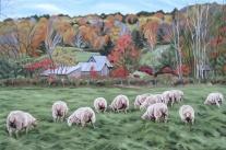 Peter's Flock, 24 x 36