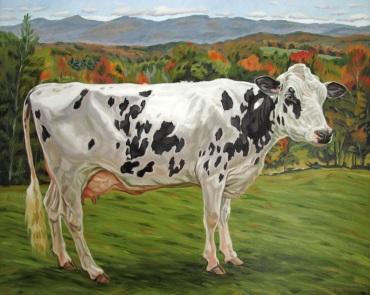 Cornish Fair Cow, 24 x 30
