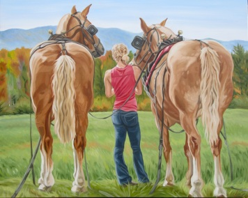 Charlie, Taylor and Clyde, 24 x 30