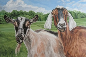 Two Goats, 20 x 30