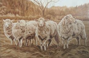 Four Ewe, 20 x 30