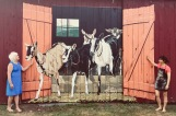 Mural on The Windham Foundation Goat Barn