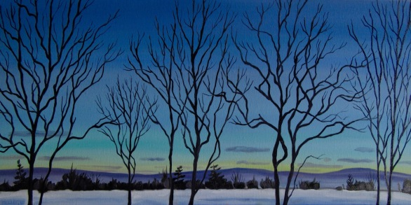 Twilight, 12 x 24 inches