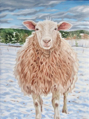Lucky Ewe, 24 x 30 inches