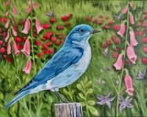 Bluebird, 16 x 20 inches