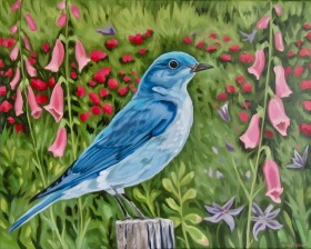 Bluebird, 16 x 20 inches