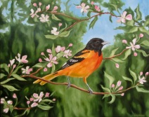Oriole, 16 x 20 inches