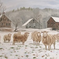 First Snow, 18 x 36 inches