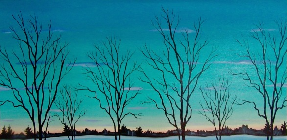 Twilight, 24 x 48 inches