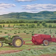 Making Hay, 24 x 36 inches