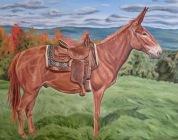 Chestnut Mule, 24 x 30 inches