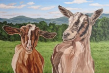 Two Goats, 20 x 30 inches