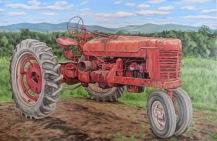 Vintage Farmall, 30 x 48 inches
