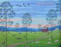 Summertime Twilight Mural, 7 x 9 feet